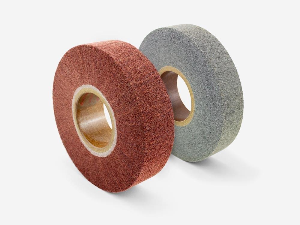 Flap, convolute and mixed abrasive wheels